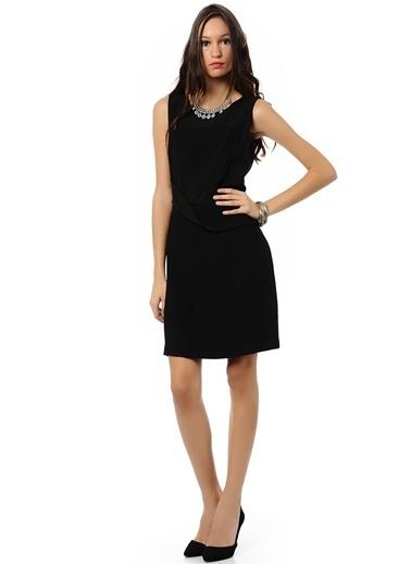 Cotton Bar Kalem Elbise Siyah